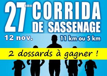 2 dossards Corrida de Sassenage 2017 (Isère)