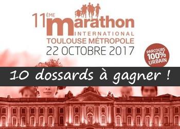 10 dossards Marathon, semi et 10 km de Toulouse Métropole 2017