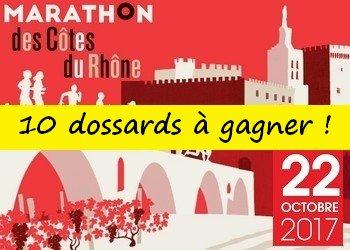 10 dossards Marathon des Côtes du Rhône 2017 (Vaucluse)