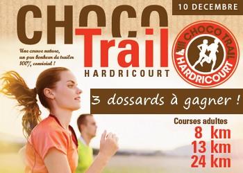 3 dossards ChocoTrail d'Hardricourt 2017 (Yvelines)