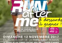 3 dossards Run After Me 2017, Rouen
