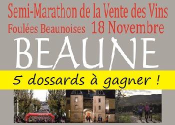 Photo of 5 dossards Semi et 10 km Vente des vins de Beaune 2017 (Côte d'Or)