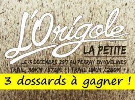 3 dossards Origole Trail 2017 (Yvelines)