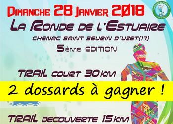 2 dossards Ronde de l'Estuaire 2018 (Charente Maritime)