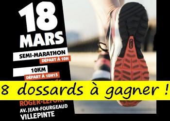 8 dossards 10 et 20 km de Villepinte 2018 (Seine Saint Denis)
