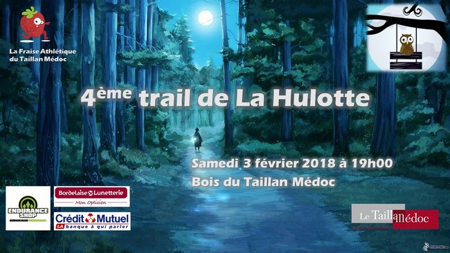3 dossards Trail de la Hulotte 2018 (Gironde)