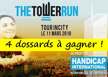 Photo of 4 dossards The Tower Run Lyon 2018
