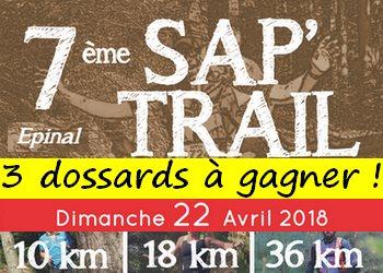 3 dossards Sap'Trail 2018 (Epinal, Vosges)