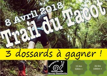 Photo of 3 dossards Trail du Tacot 2018 (Côte d'Or)
