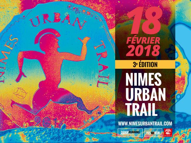 3 dossards Nîmes Urban Trail 2018 (Gard)