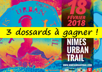 Photo of 3 dossards Nîmes Urban Trail 2018 (Gard)