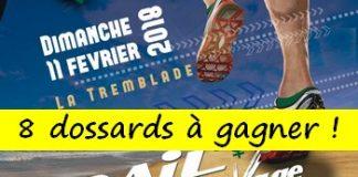8 dossards Trail Côte Sauvage 2018 (Charente Maritime)