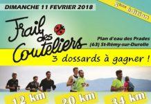 3 dossards Trail des Couteliers 2018 (Puy de Dôme)