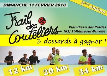 Photo of 3 dossards Trail des Couteliers 2018 (Puy de Dôme)