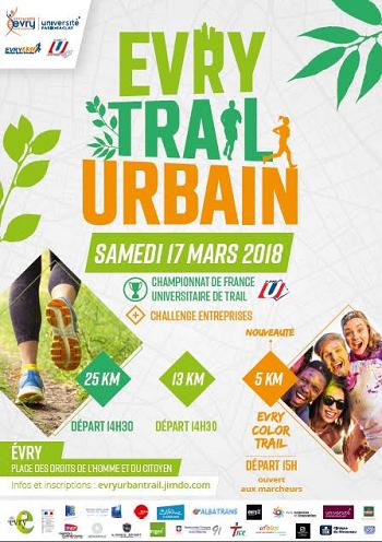 10 dossards Evry Trail Urbain 2018 (Essonne)