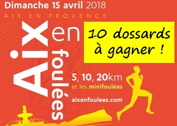 10 dossards Aix en Foulées 2018 (PACA)