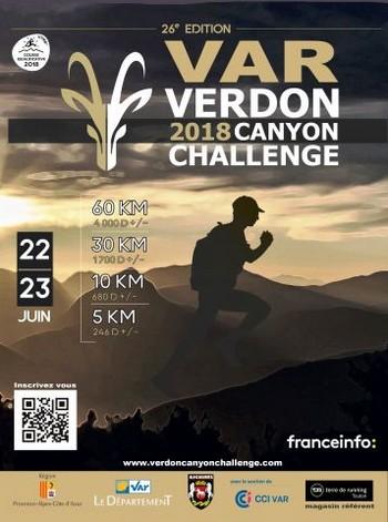 4 dossards Var Verdon Canyon Challenge 2018