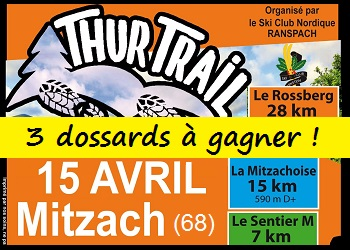 3 dossards Thur Trail 2018 (Haut Rhin)