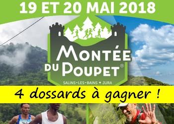 4 dossards Montée du Poupet 2018 (Jura)