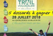 5 dossards Trail Volodalen du Jura 2018