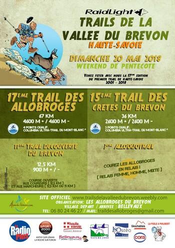 4 dossards Trails de la vallée du Brevon 2018 (Haute Savoie)