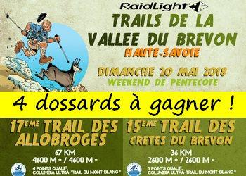 Photo of 4 dossards Trails de la vallée du Brevon 2018 (Haute Savoie)