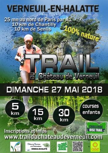 3 dossards Trail du Château de Verneuil 2018 (Oise)