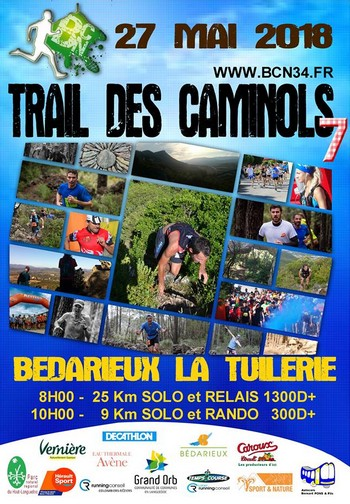 2 dossards Trail des Caminols 2018 (Hérault)