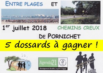 5 dossards Trail Entre Plages et Chemins Creux 2018 (Loire Atlantique)