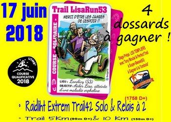 Photo de 4 dossards Trail LisaRun53 – 2018 (Mayenne)