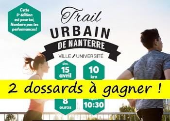 2 dossards Trail urbain de Nanterre 2018 (Hauts de Seine)