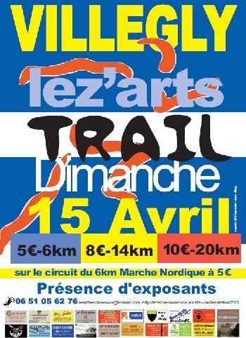 3 dossards Lez'Arts Trail 2018 de Villegly (Aude)