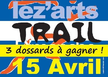 3 dossards Lez'Arts Trail 2018 (Villegly, Aude)