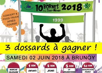 3 dossards 10 Bornes de la Saint Médard 2018 (Essonne)