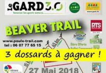 3 dossards Beaver Trail 2018 (Gard)