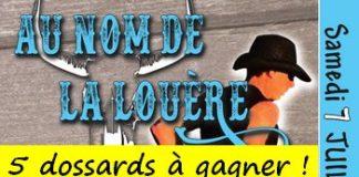 5 dossards Trail Au nom de la Louère 2018 (Centre Val de Loire)