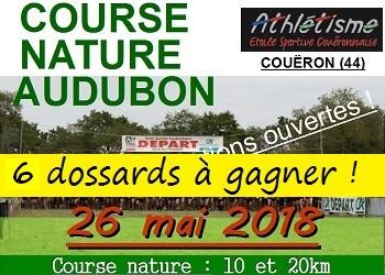 6 dossards Course Nature Audubon 2018 (Loire Atlantique)