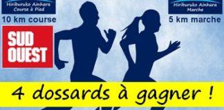 4 dossards 10 km Course des hirondelles 2018 (Pyrénées Atlantiques)