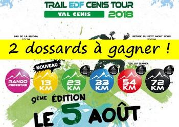2 dossards Trail EDF Cenir Tour 2018 (Savoie)