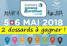 2 dossards Marathon, semi et 10 km de Genève 2018
