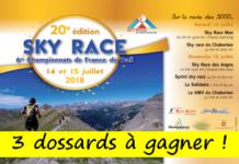 3 dossards Sky Race Montgenèvre 2018 (Hautes Alpes)