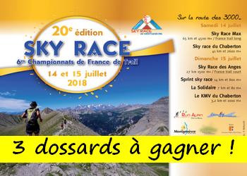 Photo de 3 dossards Sky Race Montgenèvre 2018 (Hautes Alpes)