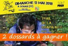 2 dossards Trail de la Crapahute 2018 (Seine et Marne)