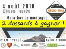 2 dossards Xibero Trail 2018 (Pyrénées Atlantiques)