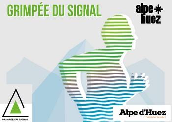 Photo of La Grimpée du signal, course verticale, Huez (Isère)