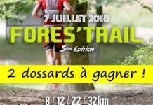 2 dossards Fores'trail 2018 (Pas de Calais)