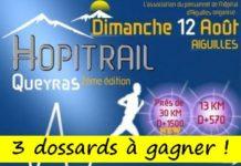 3 dossards Hopitrail 2018 (Aiguilles, Hautes Alpes)