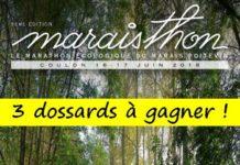 3 dossards Marathon du Marais Poitevin 2018 (Deux Sèvres)
