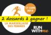 2 dossards Marseillaise des femmes 2018 (PACA)