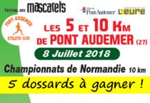 5 dossards 5 et 10 km des Mascarets 2018 (Eure)